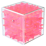 MoYu Mini 3D Maze Puzzle Cube Transparent Red