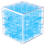 MoYu Mini 3D Maze Puzzle Cube Transparent Blue