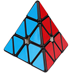 YuXin HuangLong M Magnetic Pyraminx Speed Cube Black