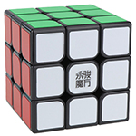 YongJun YuLong V2 M 3x3x3 Magnetic Magic Cube Black