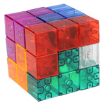 YongJun Magic Magneic Cube Building Blocks Transparent Random Colors