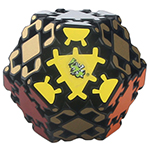 LanLan Gear Hexadecahedron Magic Cube Black