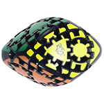 Lanlan Gear Curvy Skewb Rhombohedron Magic Cube Black
