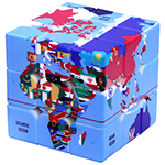 CB Geographical 3x3x3 Magic Cube Stickerless