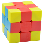 FanXin 3-color Cross 3x3x3 Magic Cube Puzzle