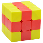FanXin 2-color Chips 3x3x3 Magic Cube Puzzle