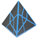CB Ghost Pyraminx Cube Black Carbon Fibre Stickered