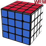 MoYu AoSu WR M 4x4x4 Magnetic Speed Cube Black