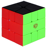 QiYi X-Man VOLT V2 SQ-1 Speed Cube Magnetic(/) Black-White Version Stickerless