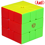 QiYi X-Man VOLT V2 SQ-1 Speed Cube Magnetic(/UD) Yellow-White Version Stickerless