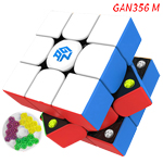 GAN356 M Magnetic 3x3x3 Stickerless Speed Cube, Standard Version