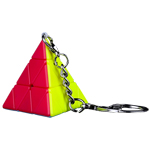 QiYi Mini Pyraminx Cube Keychain Stickerless