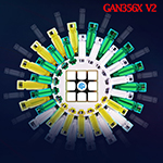GAN 356X V2 Numerical Speed Cube Stickerless Version Full-Br...