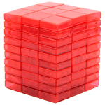 WitEden 3x3x10 I Magic Cube Collective Edition Transparent Red