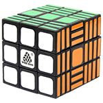 WitEden 3x3x10 II Magic Cube Black
