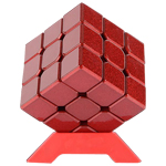 CB Metal Alloy 3x3x3 Magic Cube Red