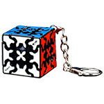 QiYi MoFangGe Gear 3x3x3 Magic Cube Keychain 35mm