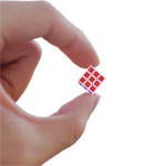 CubeLab 1cm Tiny 3x3x3 Magic Cube Cherry Pollen