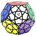 AJ Bauhinia Dodecahedron II Magic Cube Puzzle Black