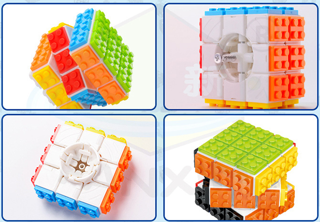 FanXin DIY 3x3x3 Building Blocks Magic Cube