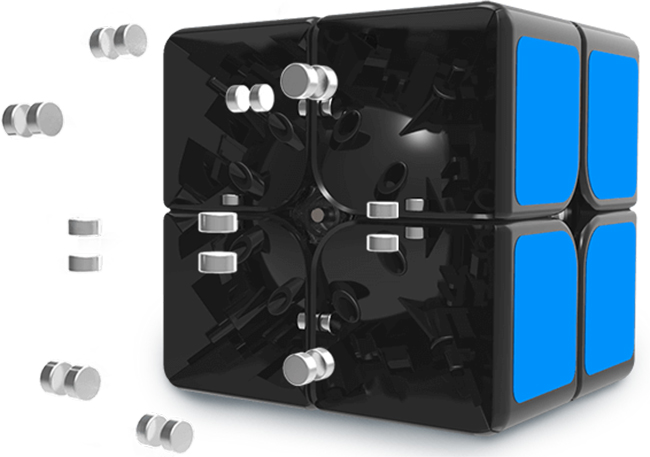 GAN249 V2 M 2x2x2 Magnetic Speed Cube Black