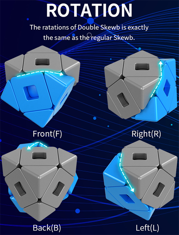 Classroom MeiLong Double Skewb Magic Cube Stickerless