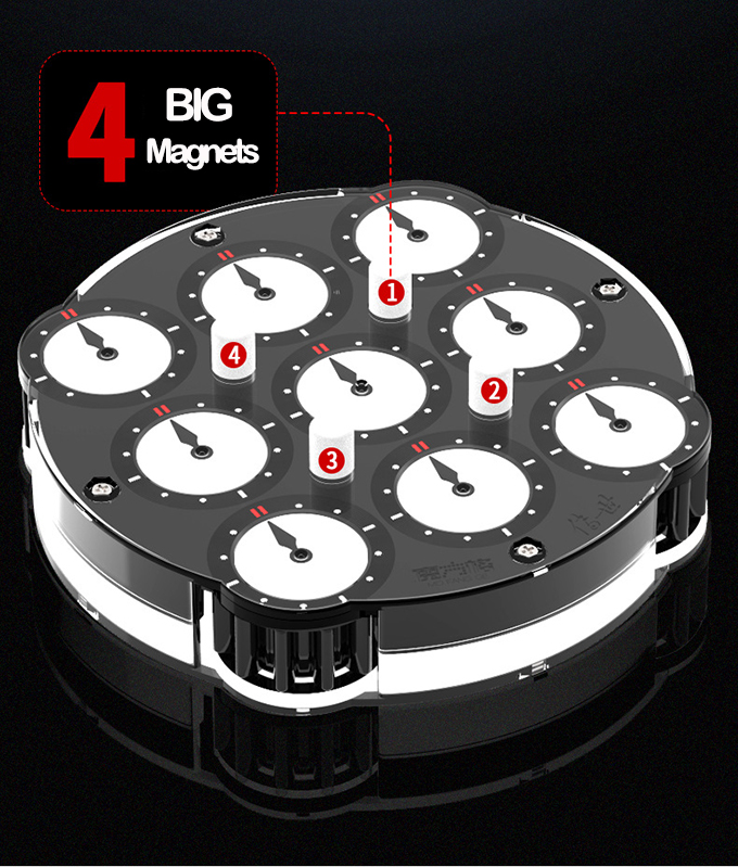 QiYi ChuanShi Double-faced Magnetic Magic Clock