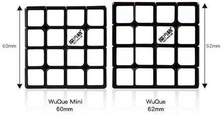 QiYi Mofangge WuQue Mini M 4x4x4 Magnetic Speed Cube