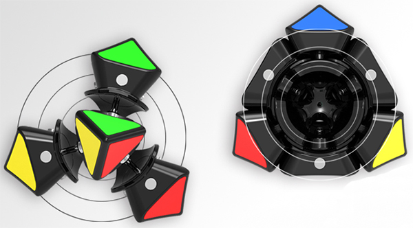 QiYi X-Man Magnetic Wingy Concave Skewb Speed Cube