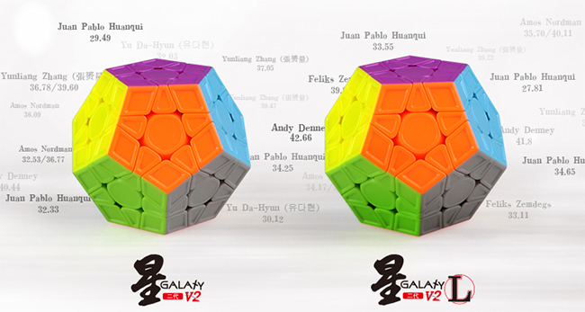 QiYi Galaxy V2 L Sculpture Stickerless Megaminx