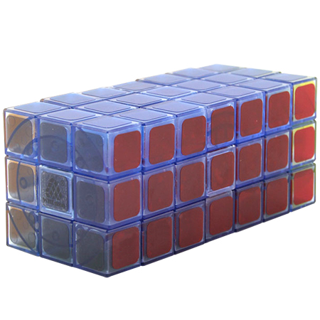 WitEden Fully Functional 3x3x7 Cuboid Cube Transparent Blue