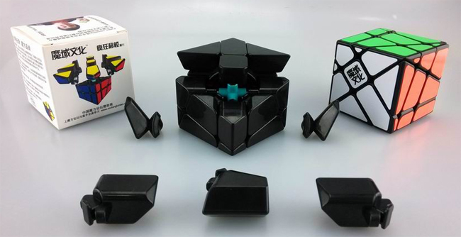 MoYu Crazy YiLeng Fisher Speed Cube Black