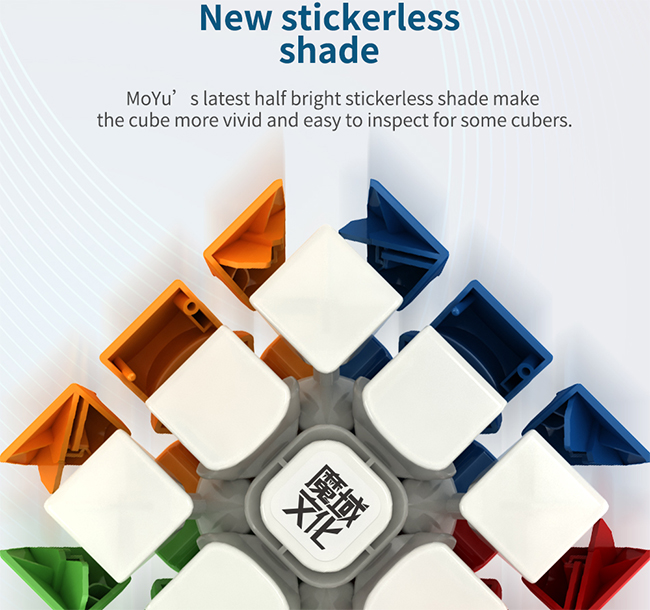 MoYu Weilong GTS2M Magnetic 3x3x3 Stickerless Speed Cube WCA Record Edition