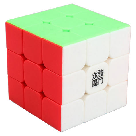 YJ YuLong 3x3x3 Stickerless Magic Cube Colored