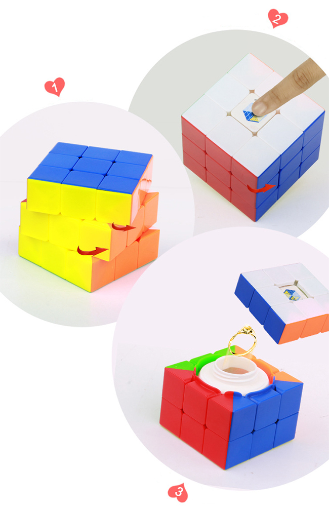 YuXin Treasure Chest 3x3x3 Magic Cube Stickerless